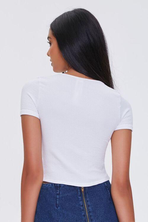 WHITE Ribbed Short-Sleeve Tee, image 3