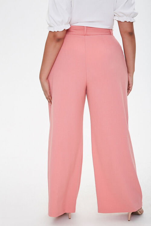 Plus Size Belted Wide-Leg Pants, image 4