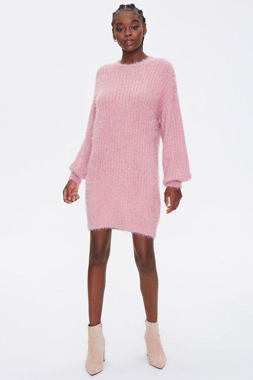 Fuzzy Knit Sweater Dress, image 4
