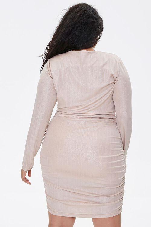 Plus Size Metallic Bodycon Dress, image 3