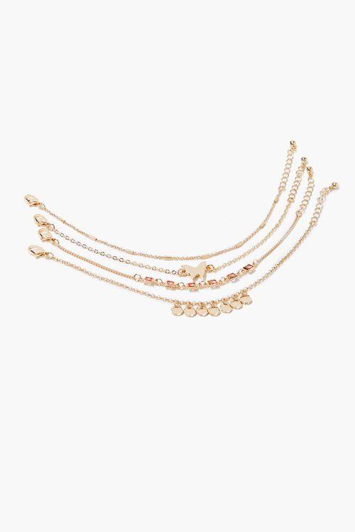 GOLD Butterfly Charm Bracelet Set, image 2
