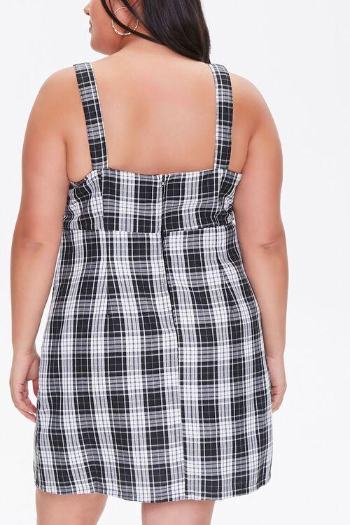 Plus Size Plaid Pinafore Dress, image 3