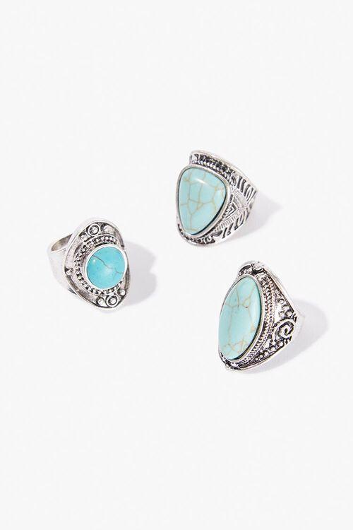 Chunky Stone Ring Set, image 1