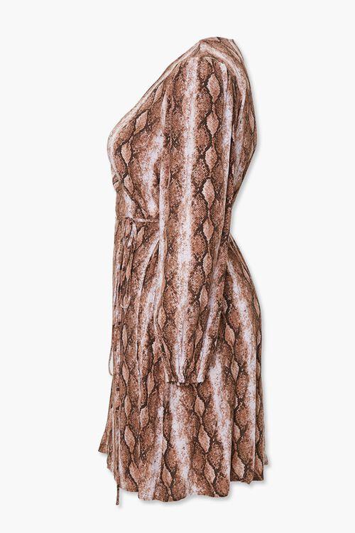 Plus Size Faux Snakeskin Wrap Dress, image 2