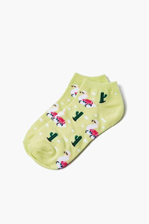 Alpaca Print Ankle Socks, image 2