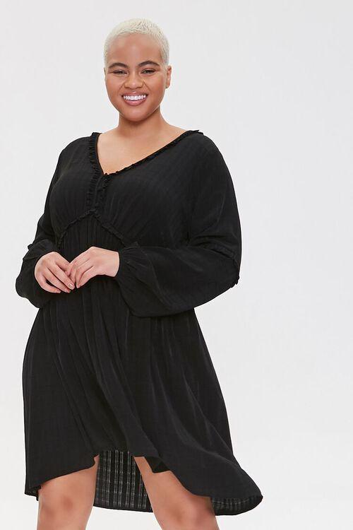 Plus Size Ruffled Knee-Length Dress, image 1