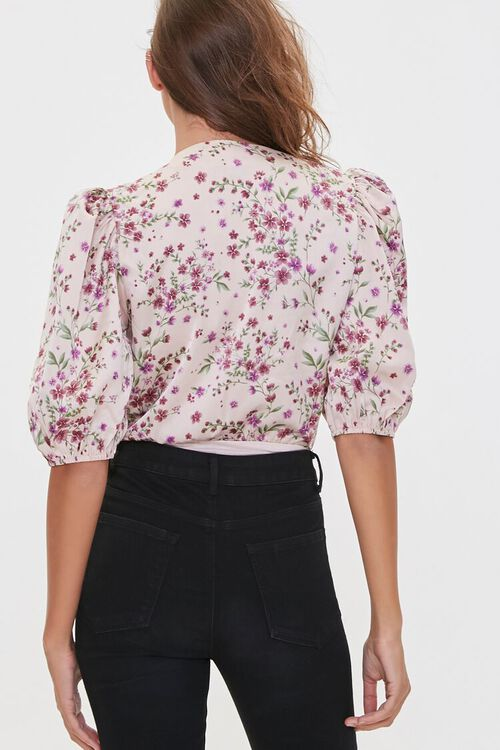 Floral Print Surplice Bodysuit, image 3
