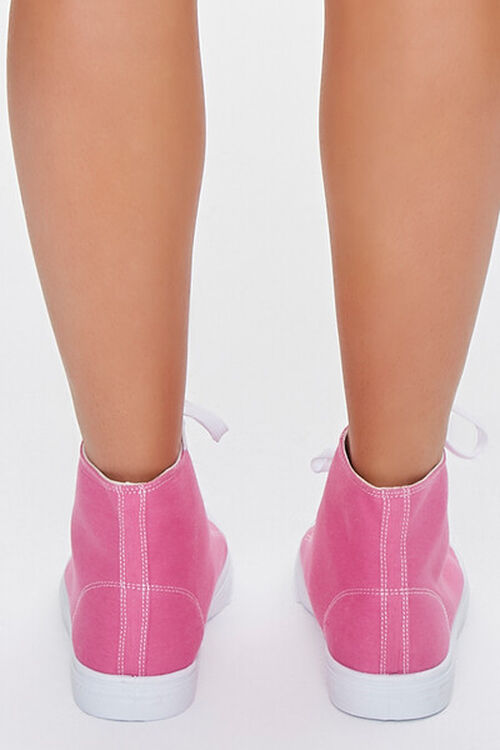 PINK Lace-Up High-Top Sneakers, image 3