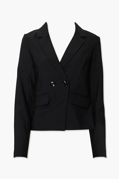 Notched Double-Breasted Blazer, image 1