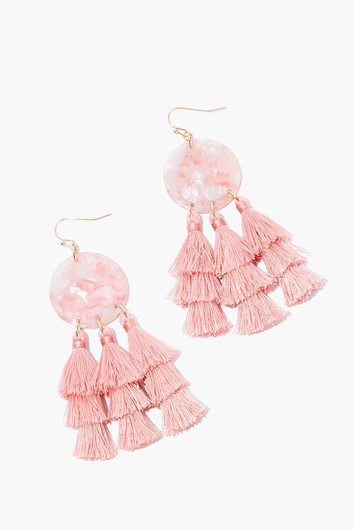 Tiered Tassel Drop Earrings, image 1