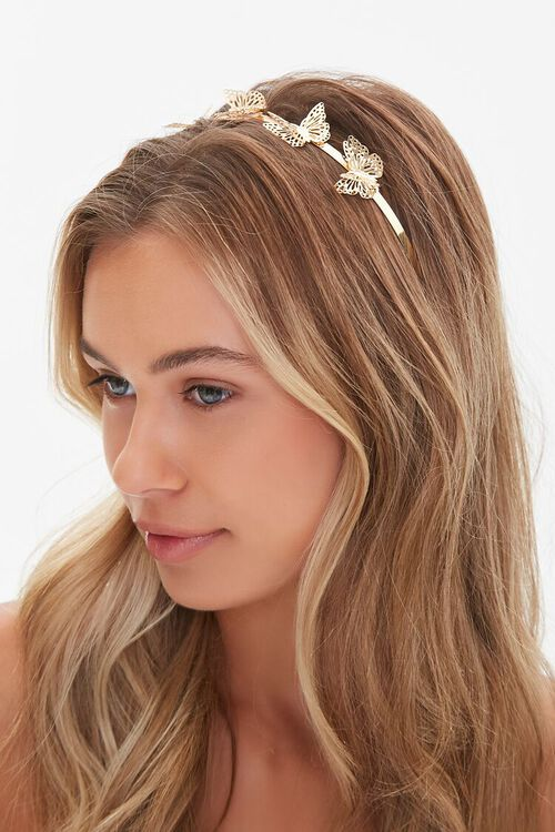 GOLD Butterfly Headband, image 1