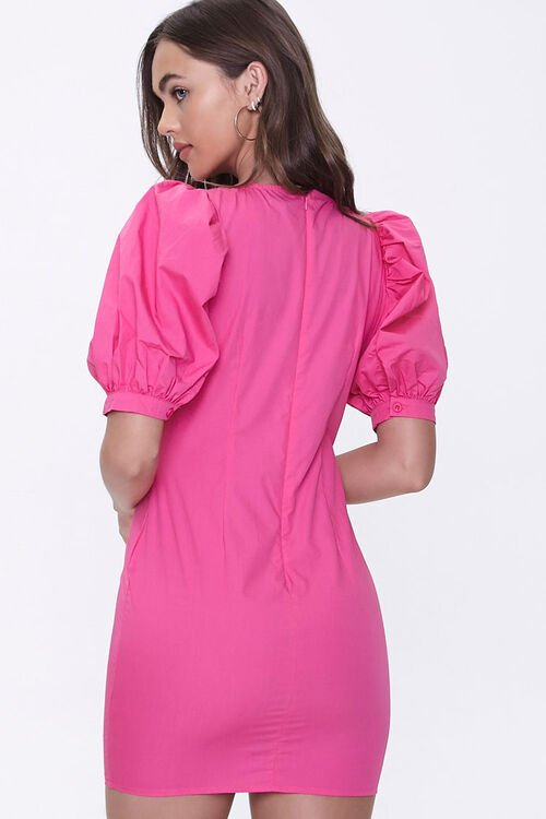 Puff-Sleeve Mini Dress, image 3