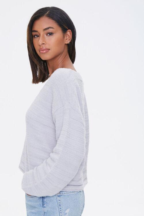Fuzzy Knit Drop-Shoulder Sweater, image 2
