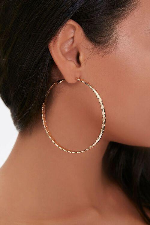 Braided Hoop Earrings, image 1