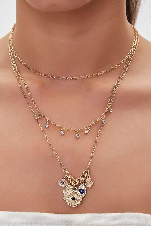 Evil Eye Pendant Layered Necklace, image 1