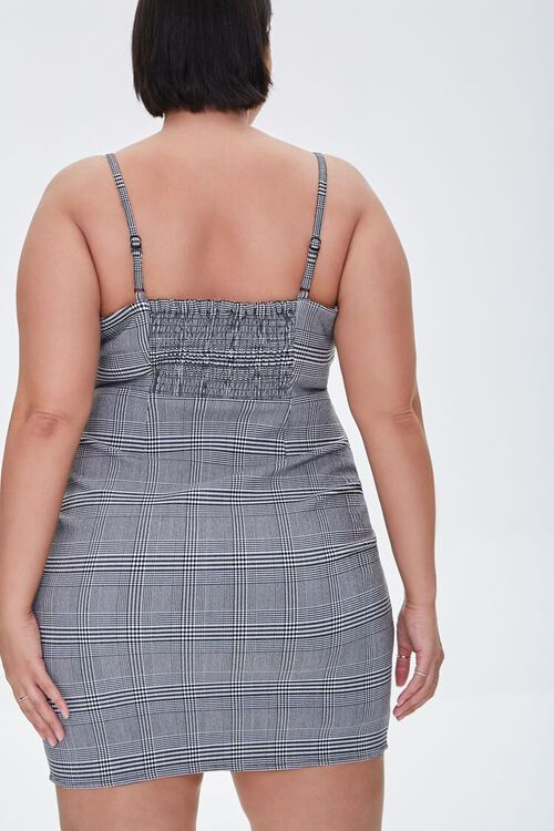 Plus Size Plaid Cami Mini Dress, image 3