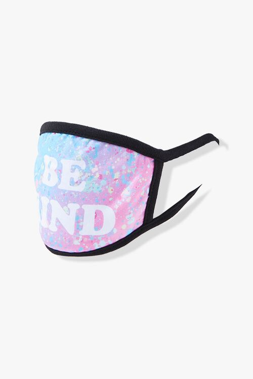 BLUE/MULTI Be Kind Graphic Face Mask, image 3