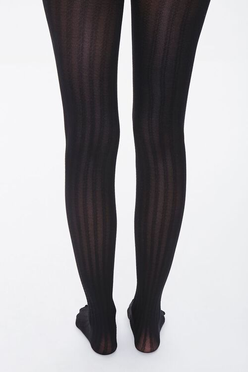Opaque Ribbed Tights, image 3