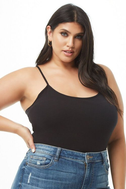 Plus Size Knit Cami, image 1
