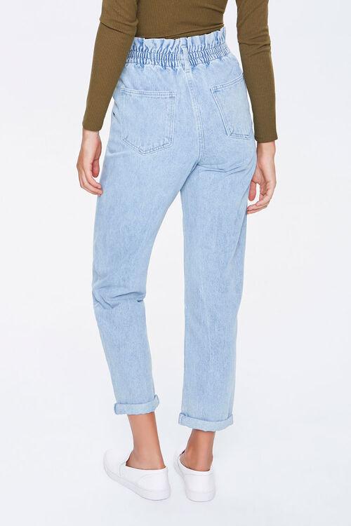 DENIM WASHED Paperbag Mom Jeans, image 4