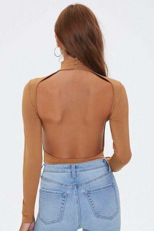 Open-Back Mock Neck Bodysuit, image 3