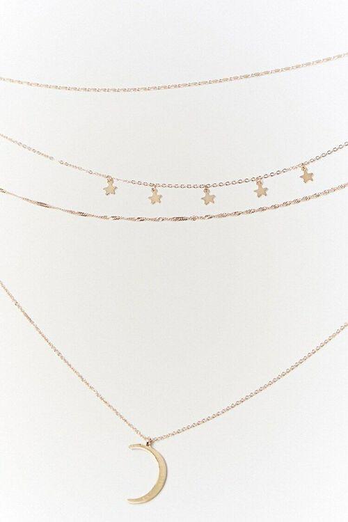 Layered Moon Pendant Necklace, image 3