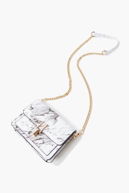 Marbled Flap-Top Crossbody Bag, image 4