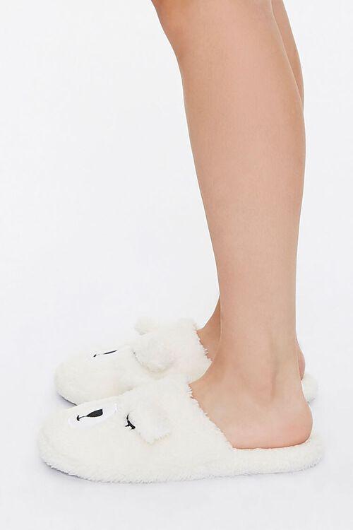 Faux Shearling Teddy Bear Slippers, image 2