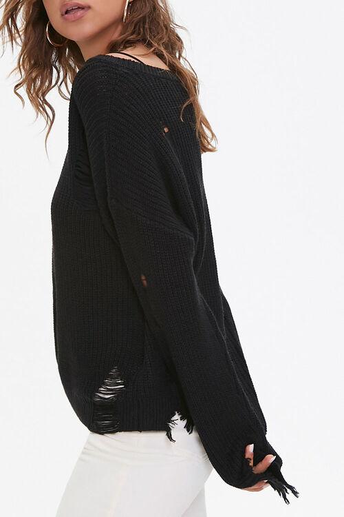 Distressed Drop-Sleeve Sweater, image 2