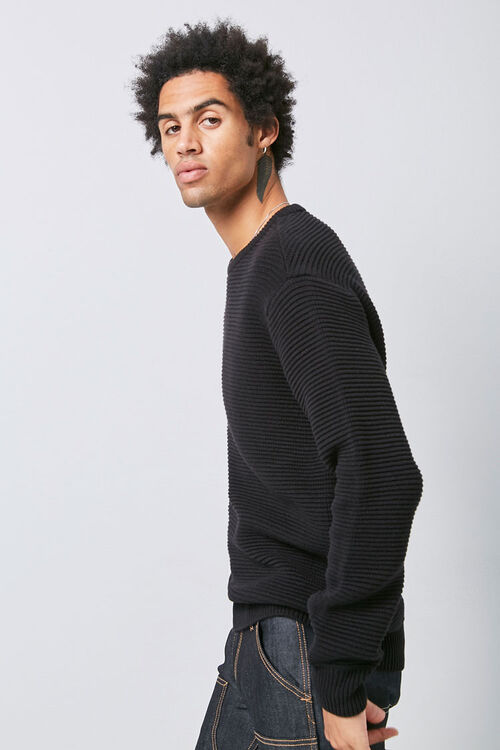 Ribbed Long Sleeve Sweater, image 2