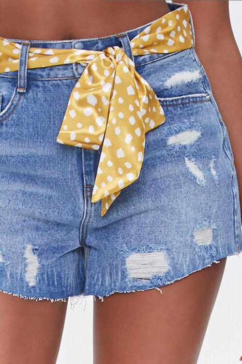Spotted Belt Denim Shorts, image 5