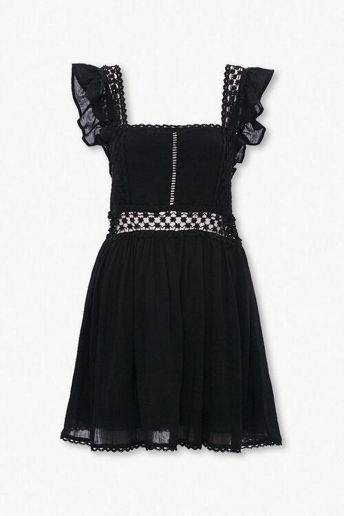 Crochet-Trim Fit & Flare Dress, image 1