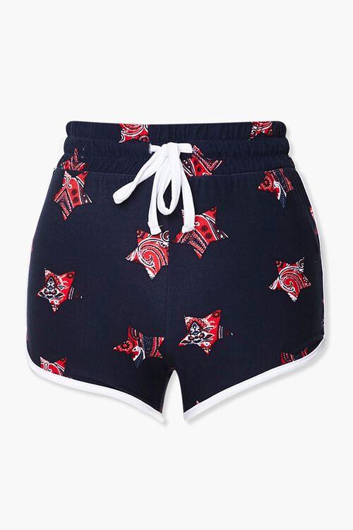 Paisley Star Print Ringer Shorts, image 1