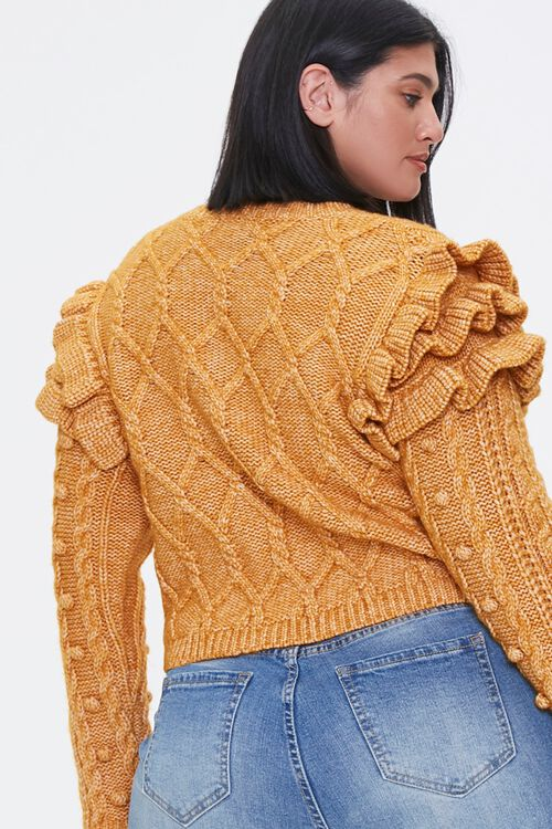 Plus Size Ruffled-Sleeve Sweater, image 3