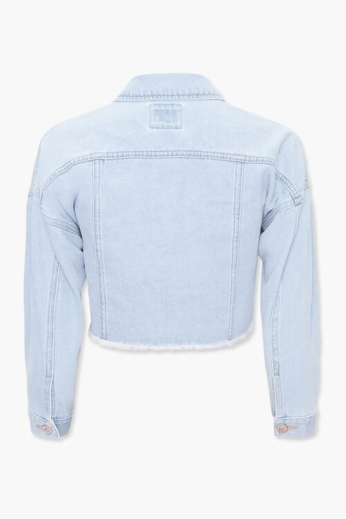 Girls Frayed Denim Jacket (Kids), image 2