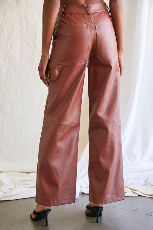 CHOCOLATE Coated Straight-Leg Utility Pants, image 4