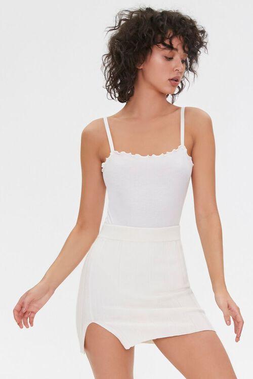 CREAM Wide-Ribbed Mini Skirt, image 1