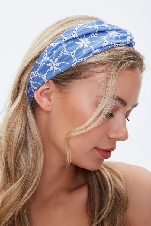 Floral Embroidered Headwrap, image 2