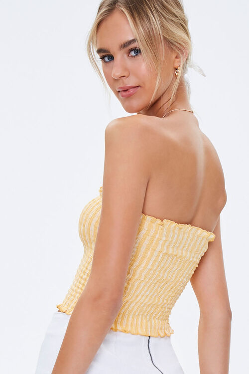 Striped Smocked Tube Top, image 3