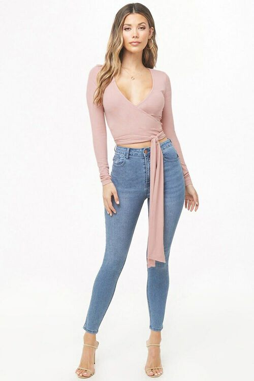Ribbed Wrap Top, image 4