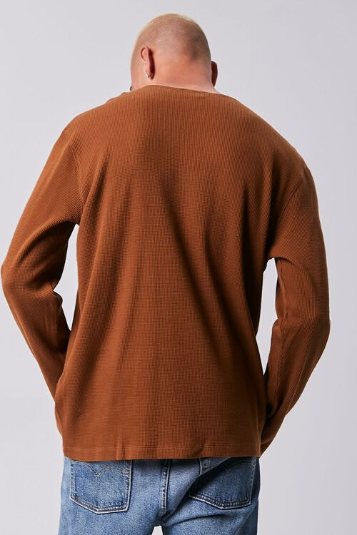 BROWN Henley Thermal Top, image 3