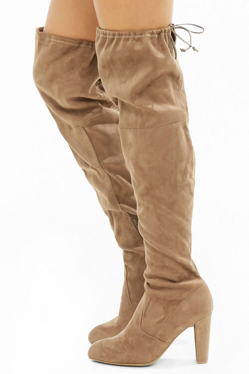 Faux Suede Over-the-Knee Boots, image 3