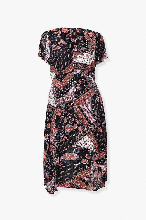 Plus Size Floral Button-Front Dress, image 1