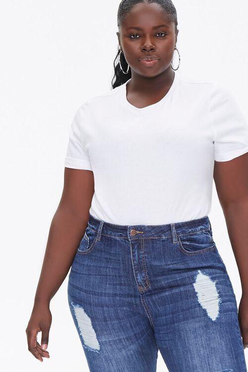Plus Size Basic Tee Bodysuit, image 1