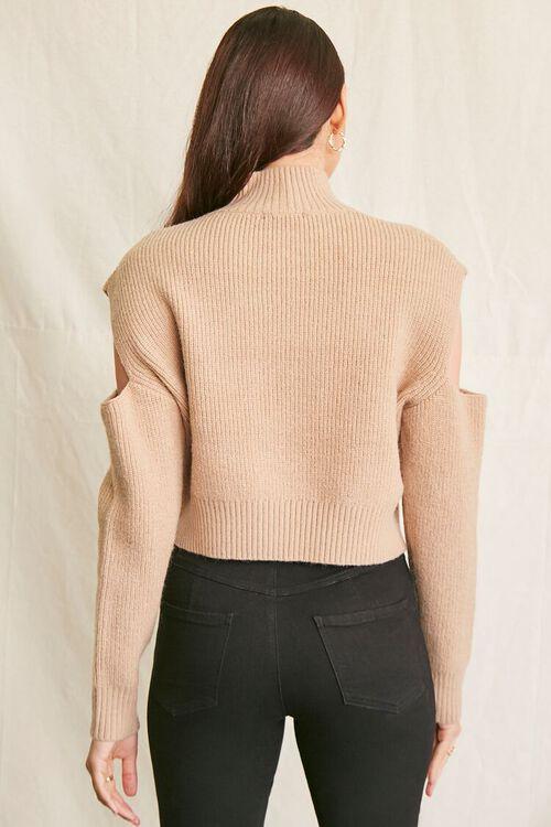 CAMEL Ribbed Cutout Sweater, image 3