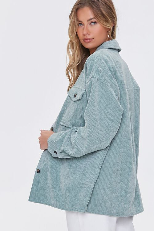 SAGE Corduroy Button-Front Shacket, image 2