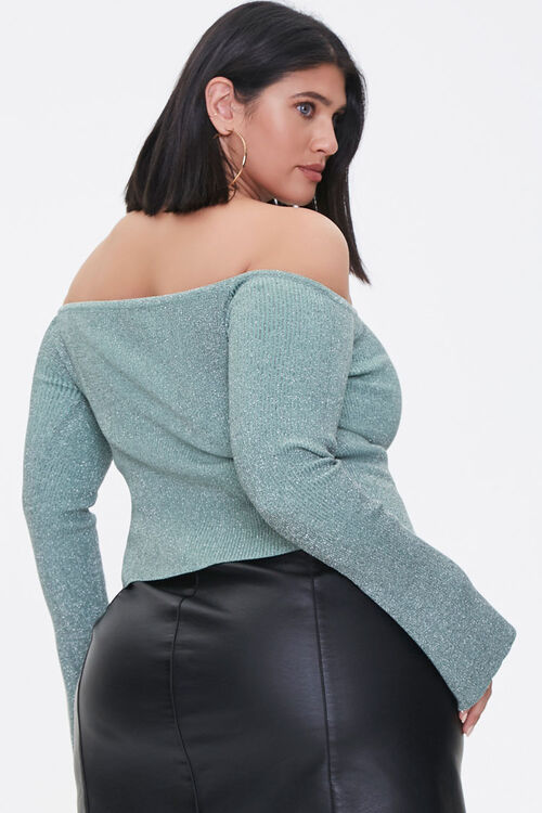 Plus Size Off-the-Shoulder Sweater, image 3