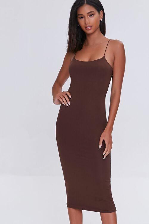 Midi Cami Bodycon Dress, image 1