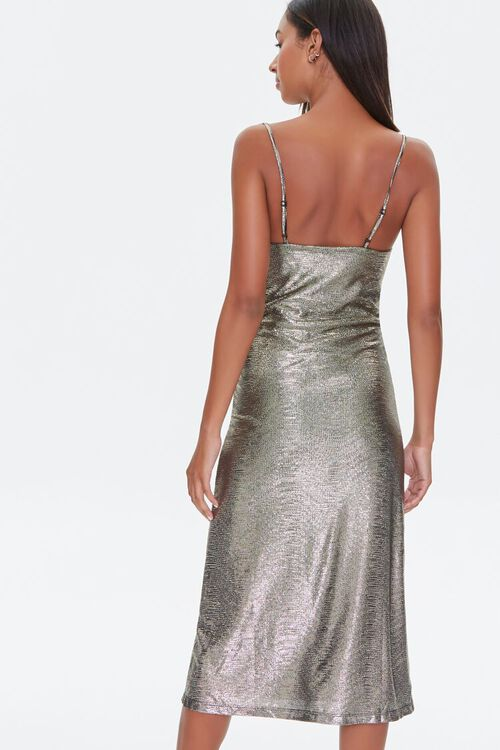 Metallic Cami Midi Dress, image 3