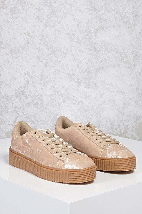 Crushed Velvet Low-Top Sneakers, image 1